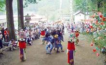 お祭り◎下名栗諏訪神社の獅子舞